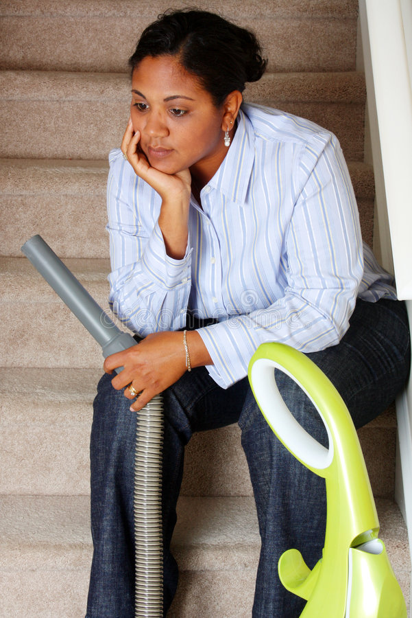 Woman Cleaning House royalty free stock image