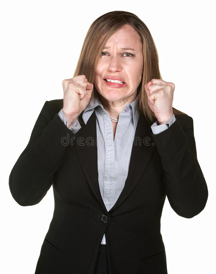 Download Woman With Clenched FIsts stock photo. Image of mexican - 25530264