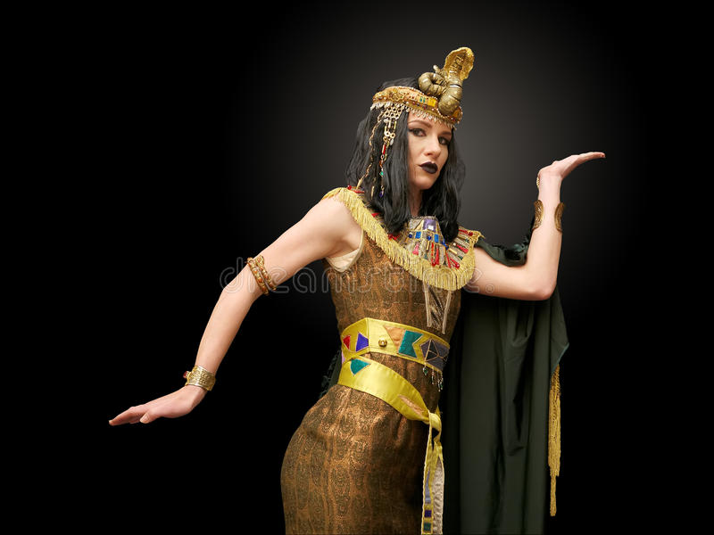 Royalty-Free Stock Photo. Download Woman in Cleopatra style stock image.  Image of dress - 78749141