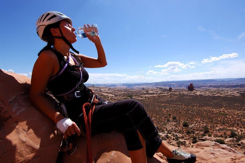 Woman climber stock images