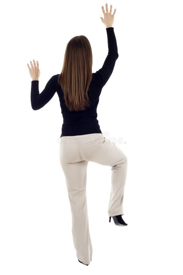 Free Woman Climbing Royalty Free Stock Image - 14128436