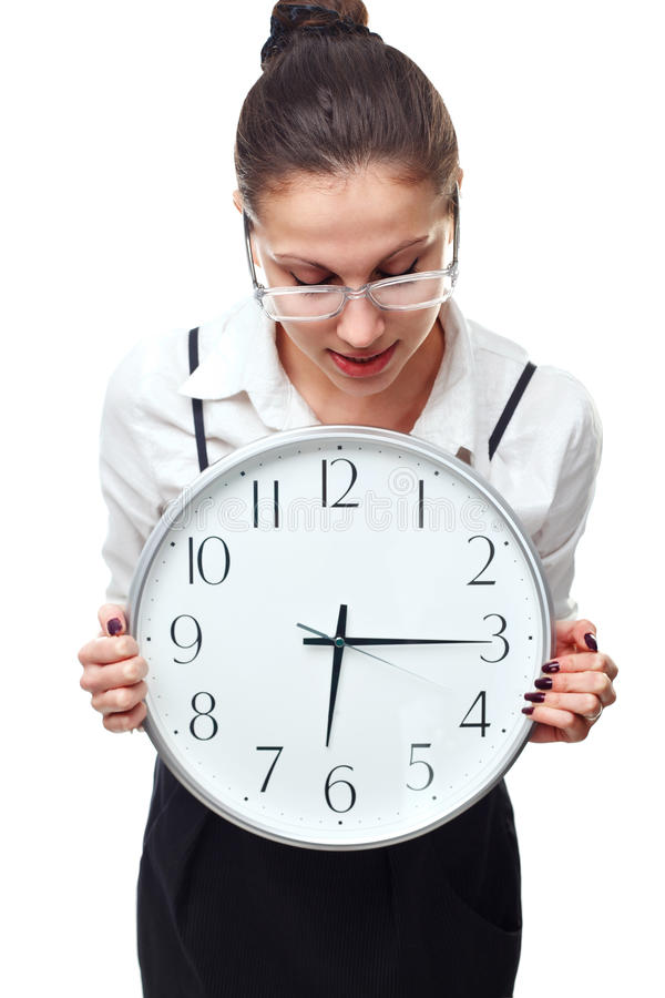 Download Woman with clock stock image. Image of businesswoman - 23229299