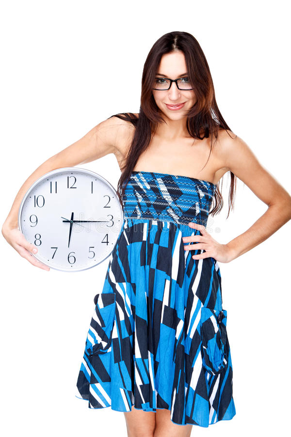 Download Woman With Clock Stock Photography - Image: 23509642