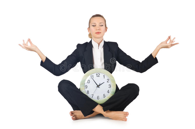 Download Woman with clock stock image. Image of concept, girl - 27714925