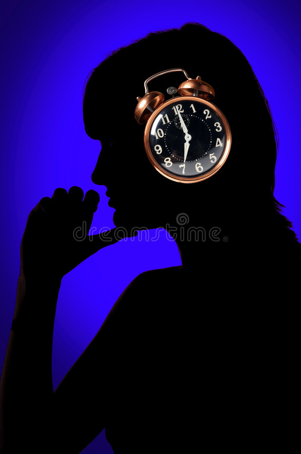 Download Woman and clock stock image. Image of business, morning - 6748071