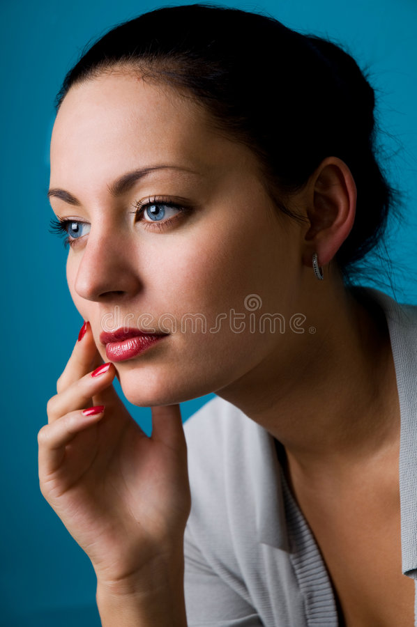 The woman close up stock images