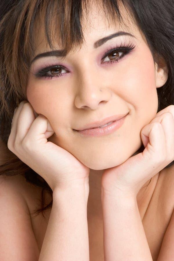 Download Woman Closeup Portrait stock image. Image of smiling, hands - 3673177
