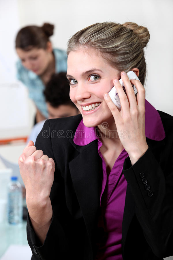 Download Woman closing a deal stock photo. Image of busy, girl - 28904258