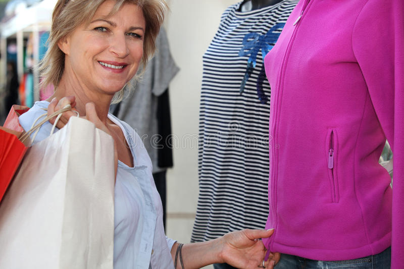 Download Woman clothes shopping stock image. Image of interior - 24020329