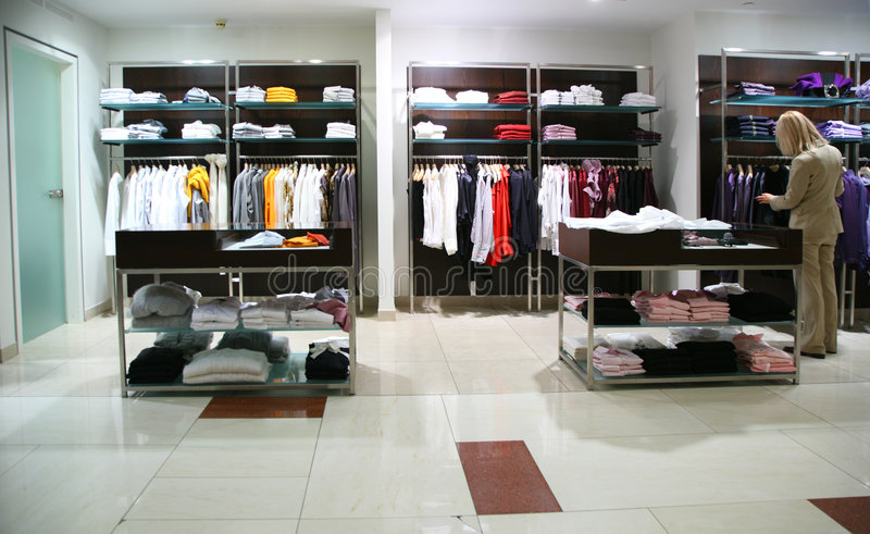 Download Woman In Clothing Department Stock Photo - Image of activity, interior: 8632910