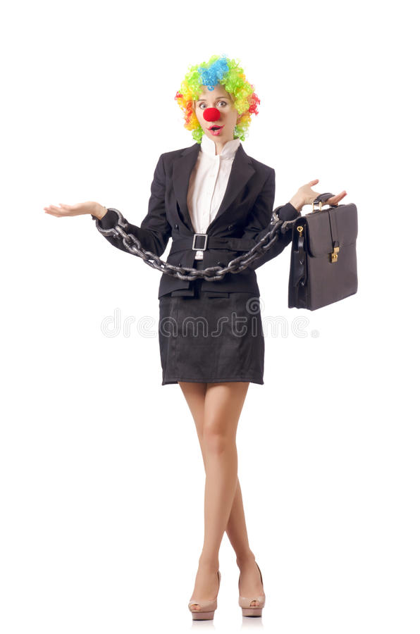 Download Woman clown stock photo. Image of career, businesswoman - 28784322