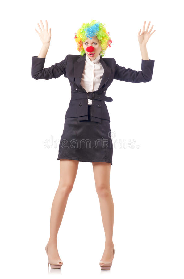 Download Woman clown stock photo. Image of background, funny, happy - 29369290