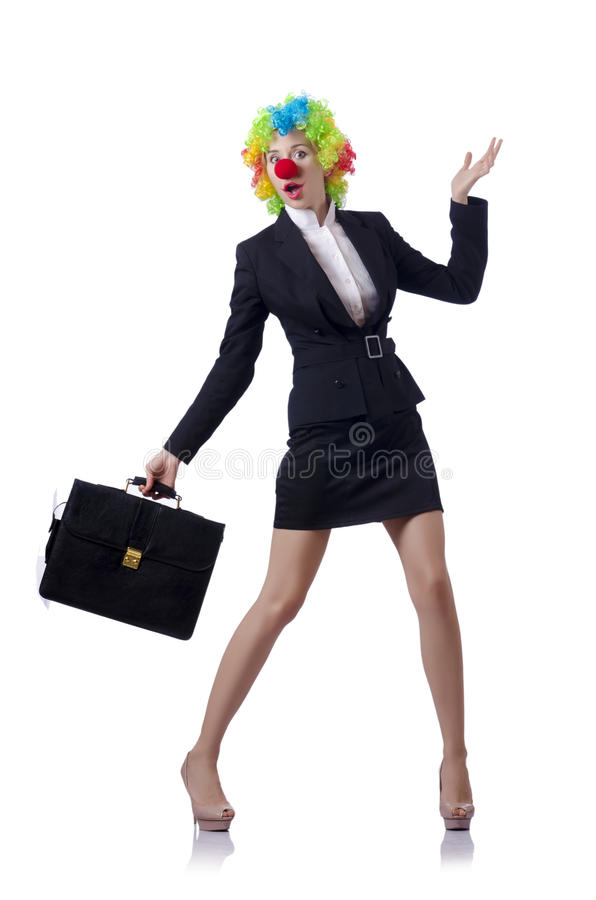 Download Woman clown stock photo. Image of elegant, funny, female - 30095402