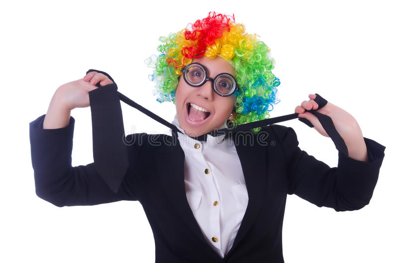 Download Woman clown businesswoman stock photo. Image of attractive - 31752444