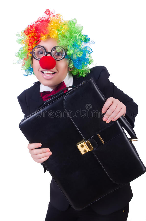 Download Woman clown businesswoman stock image. Image of background - 32923501