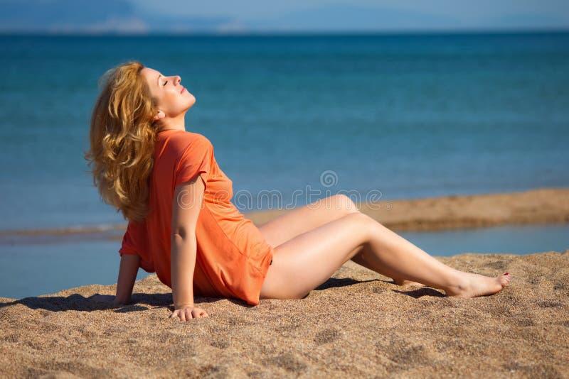 Woman&coast-15 stock photography