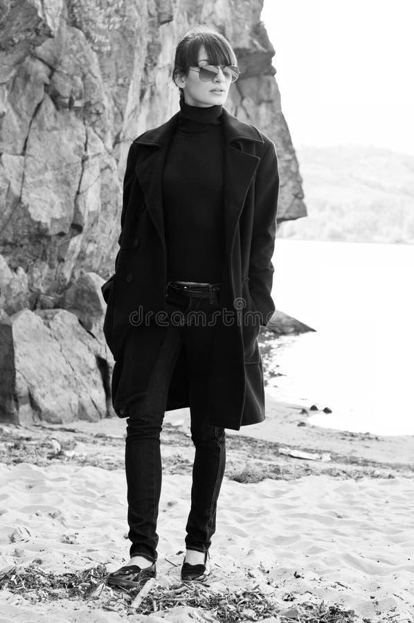 Woman in coat stock image