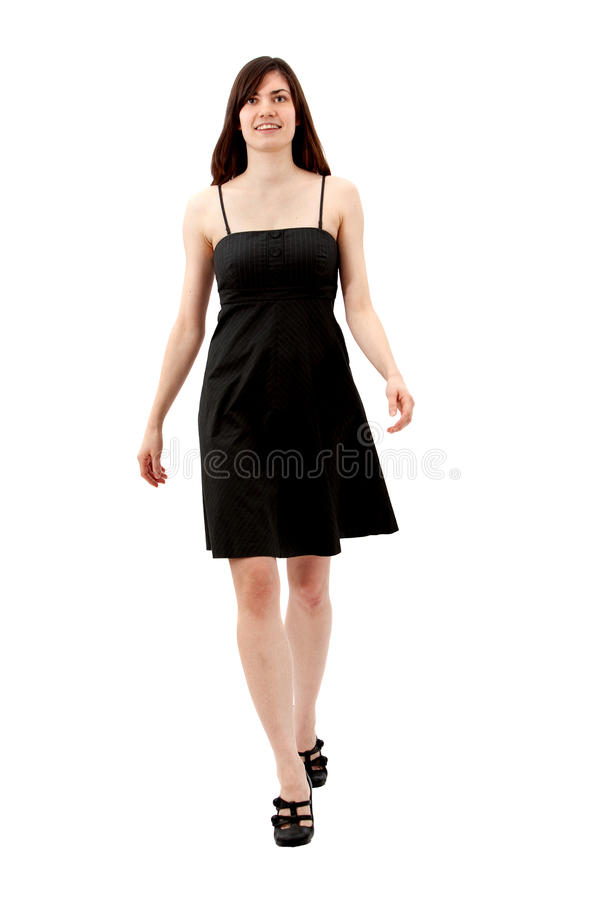 Woman in a cocktail dress