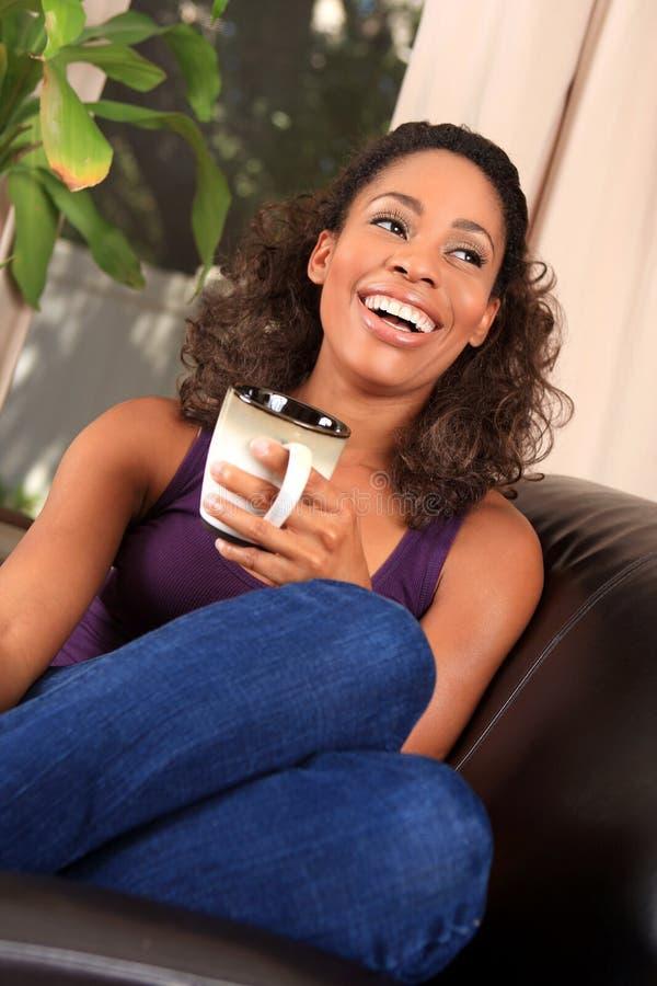 Woman coffee royalty free stock image