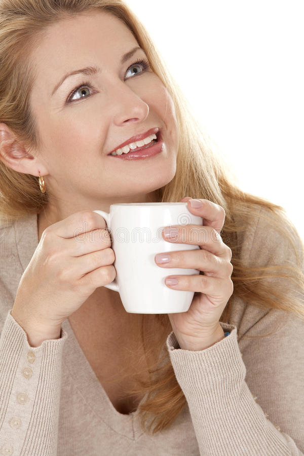 Download Woman with coffee stock image. Image of hold, cafe, european - 27227457