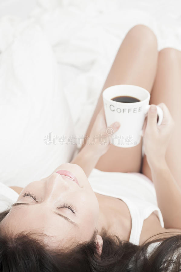 Download Woman With Coffee Daydreaming Stock Photo - Image: 23788420