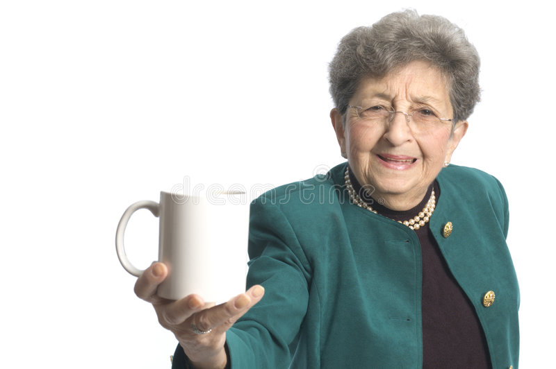 Woman with coffee tea stock photo