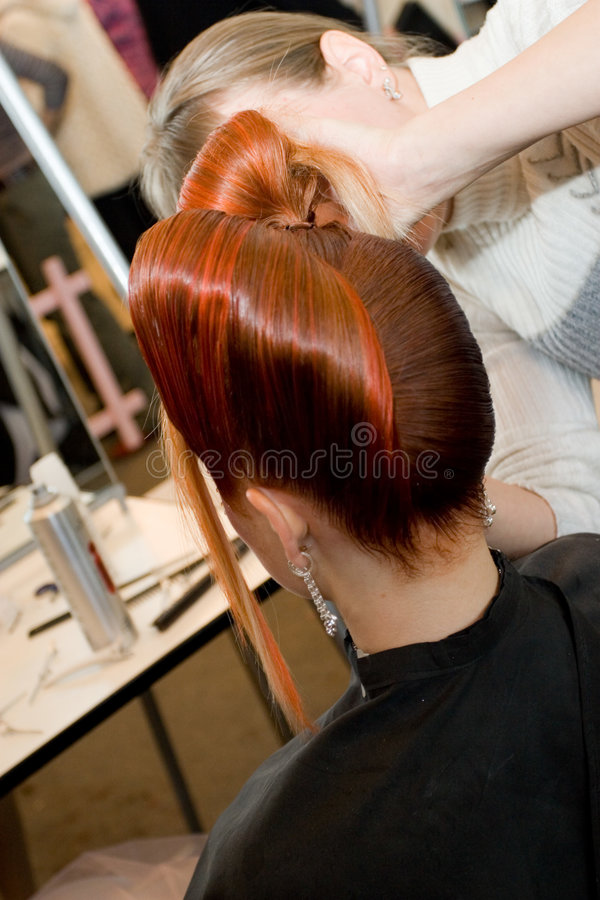Woman coiffure stock image