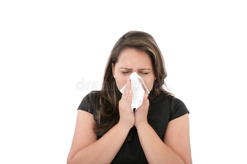Download Woman With A Cold Or Allergy Stock Photo - Image of female, germs: 27034566