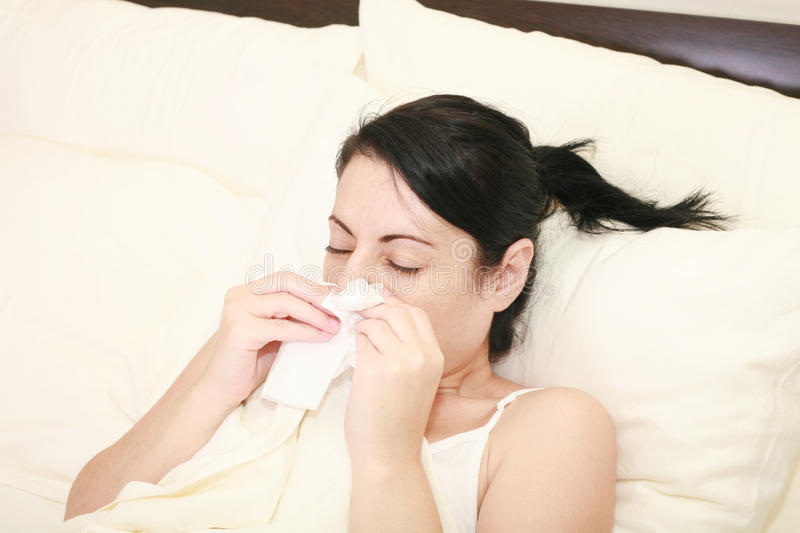 Download Woman with cold sneezing stock photo. Image of allergy - 23230194