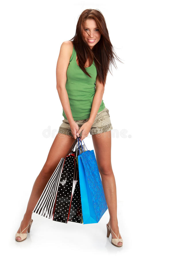 Download Woman With Colorful Shopping Bags Stock Image - Image: 11001009