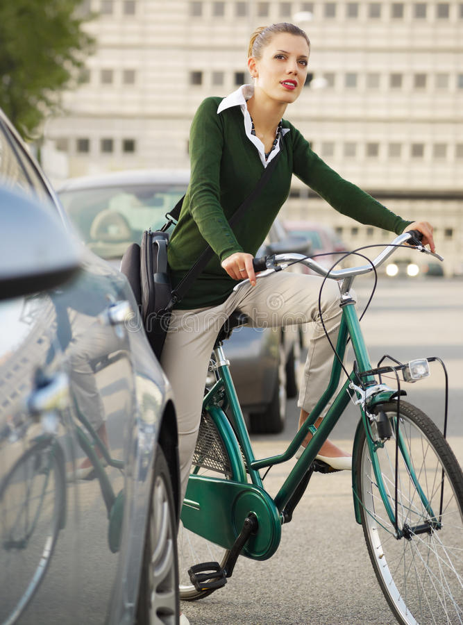 Download Woman commuting stock photo. Image of females, cyclist - 11317670