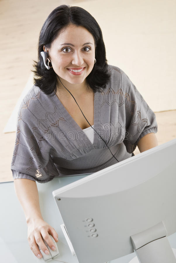 Download Woman on Computer stock image. Image of clothing, caucasian - 10092771