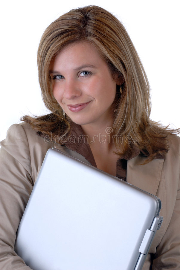 Woman & Computer royalty free stock photos