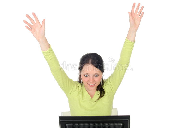 Download Woman With Computer Royalty Free Stock Photos - Image: 941158