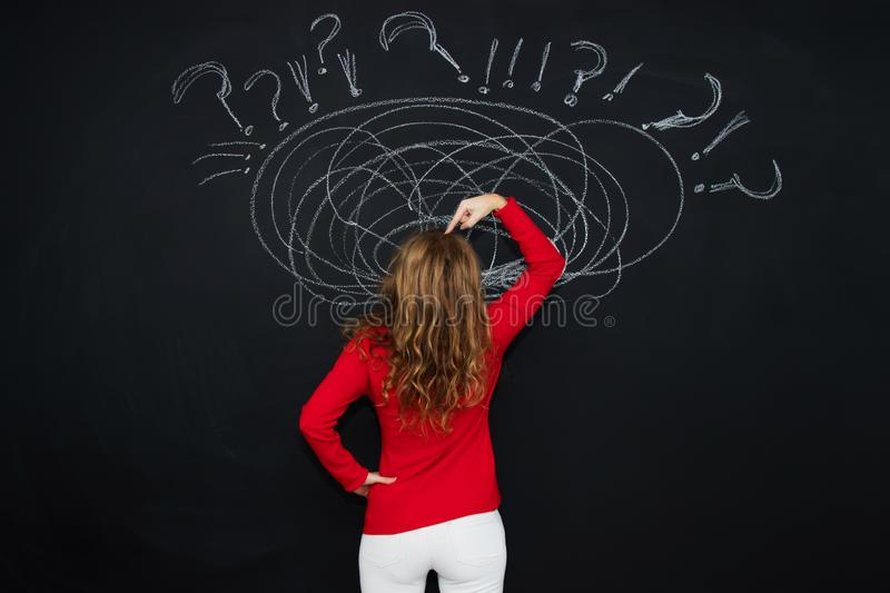 Woman with the concept of stress stock photos
