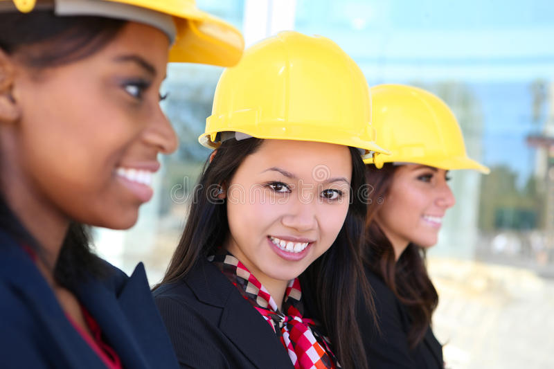 Woman Construction Team royalty free stock image