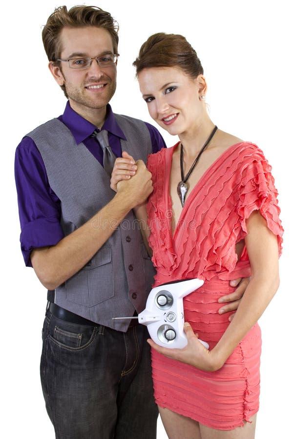 Woman Controlling Boyfriend Stock Photography