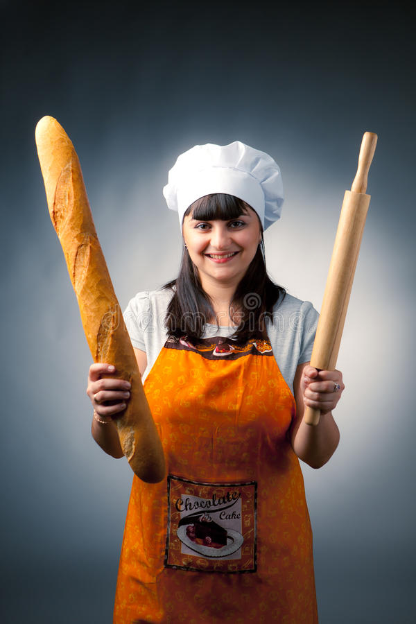 Woman Cook Royalty Free Stock Image