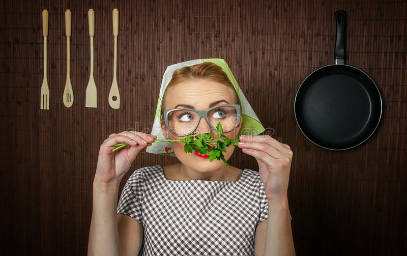 Download Woman cook stock image. Image of smell, culinary, close - 27705439
