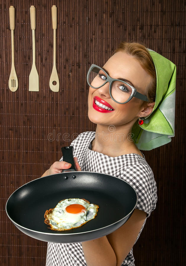 Download Woman cook stock image. Image of dark, fried, girl, close - 27705579