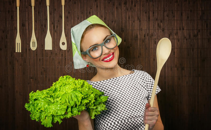 Download Woman cook stock image. Image of looking, hairdress, close - 27705901