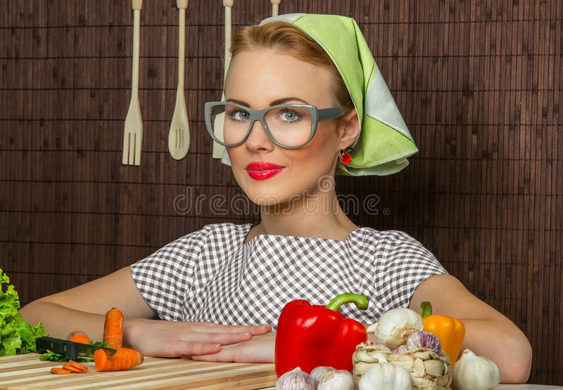 Download Woman cook stock image. Image of eyeglasses, kitchen - 28682773