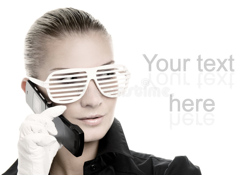 Woman in cool sunglasses royalty free stock photos