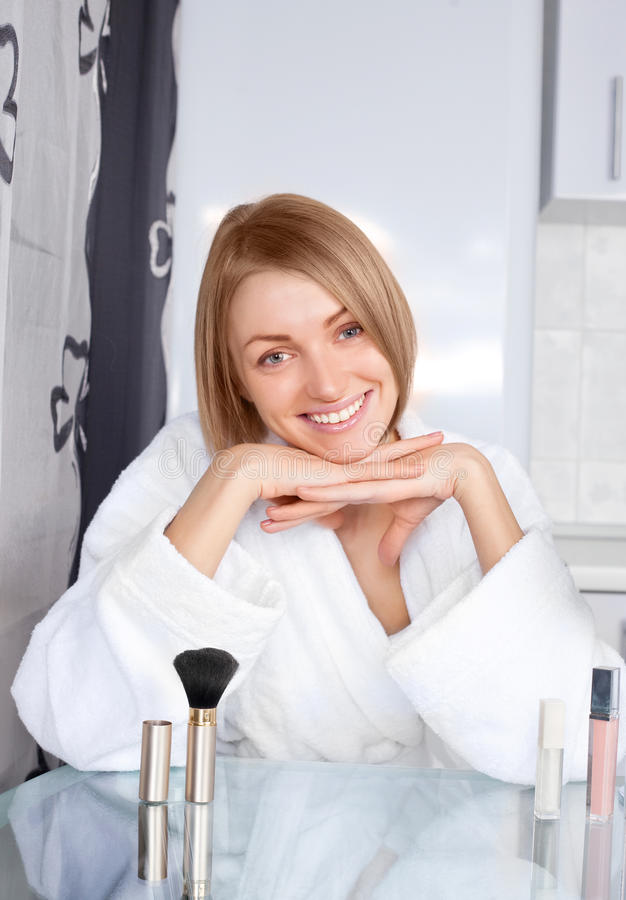 Download Woman with cosmetics stock photo. Image of happiness - 16903556