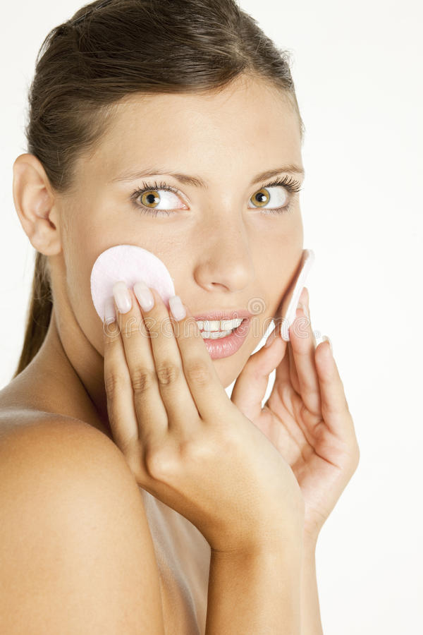 Download Woman with cotton pads stock photo. Image of hygiene - 12551522