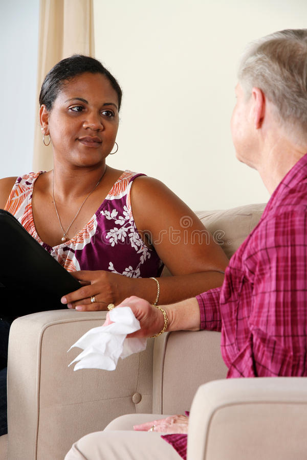 Woman in Counseling royalty free stock photo