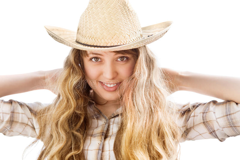 Download Woman With Cowboy Hat Royalty Free Stock Images - Image: 11764299