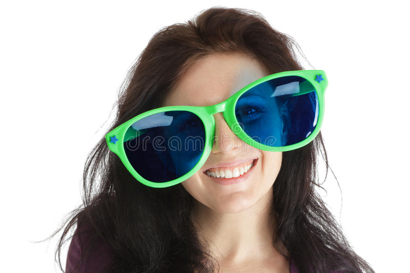 Download Woman in crazy glasses stock image. Image of person, girl - 22279545