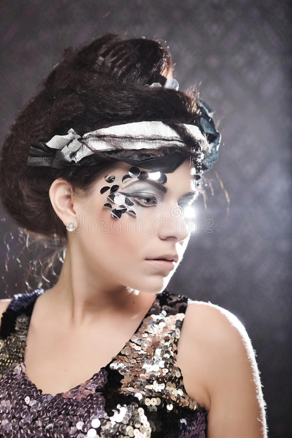 Woman With Creative Make Up Stock Image