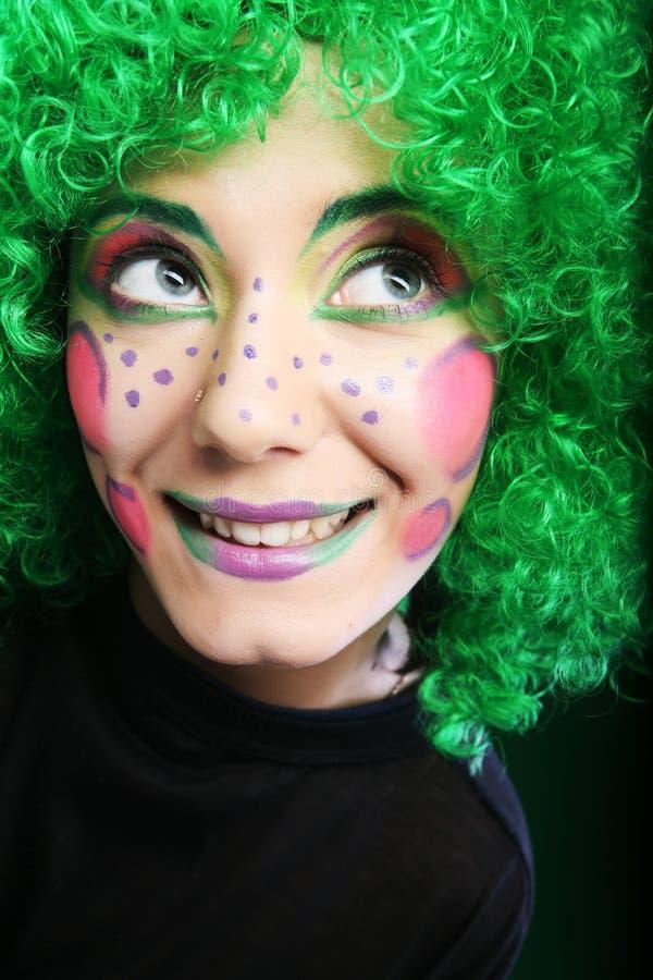 Woman with creative visage stock photos